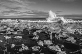 Icy Waves (Black & White)