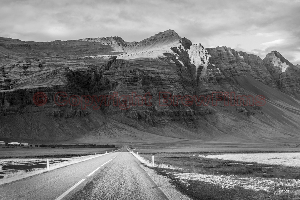 The Long Winding Road (Black & White)