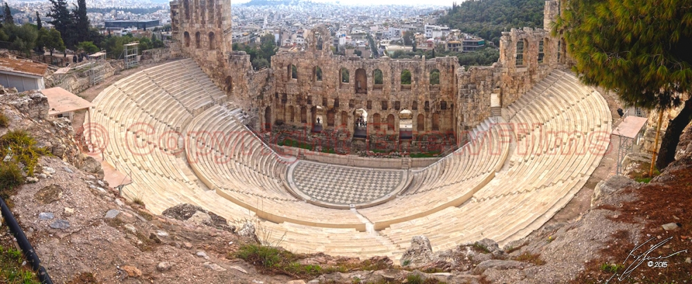 The Odeon of Herodes Atticus (panorama)