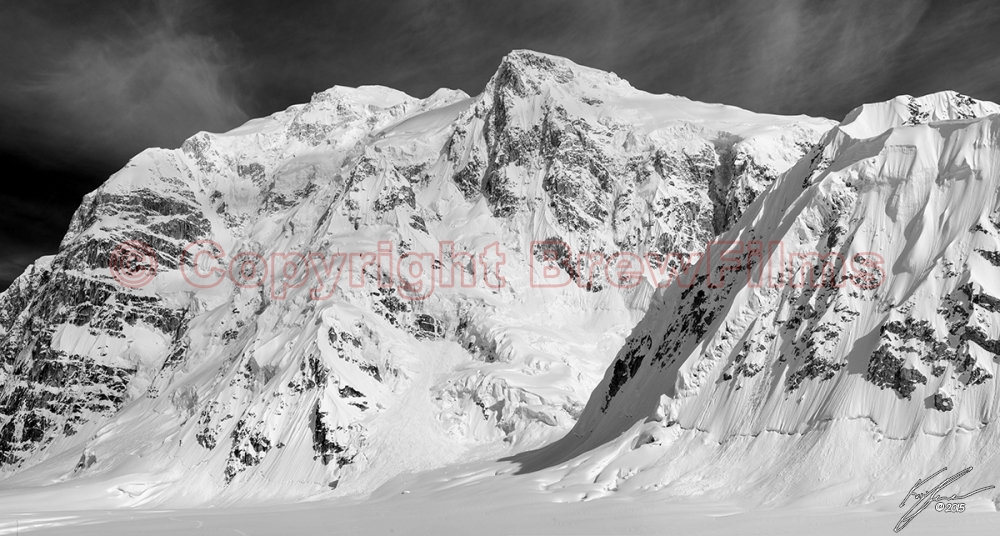 Shedding the occasional avalanche, they stood day and night chaneling us down the valley to the trail back up. - See more at: http://brewfilms.com/galleries/denali-alaska/base-camp-bluffs#sthash.V8Nrk55V.dpuf