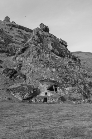 Cave house (Black & White)