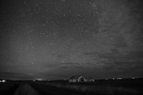 Starry Barn (Black & White)
