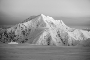 Sunset on Mt. Foraker (Black & White)