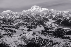Trail to Denali (Black & White)