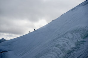 Climbers on the ridgeline