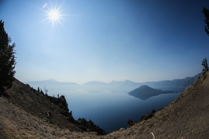 Crater Lake fisheye