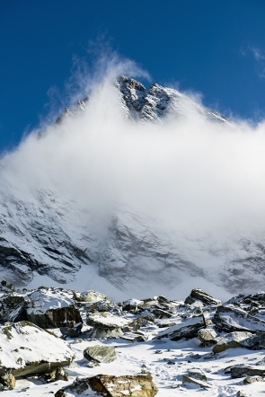 Grossglockner in the clouds